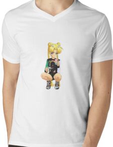 Bad Girl Sailor Moon Mens V-Neck T-Shirt