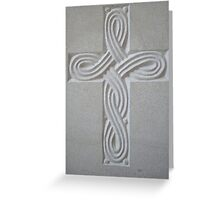 White Cross Greeting Card