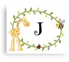Nursery Letters J Canvas Print