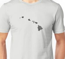 Hawaii State Word Art Unisex T-Shirt