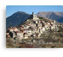 Perched village Canvas Print