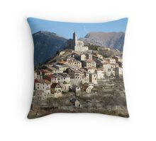 Perched village Throw Pillow