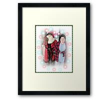 Michael And The Pet Store Santa Framed Print