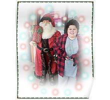 Michael And The Pet Store Santa Poster