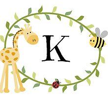 Nursery Letters K by mezzilicious