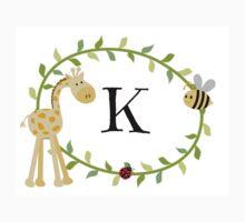 Nursery Letters K One Piece - Short Sleeve