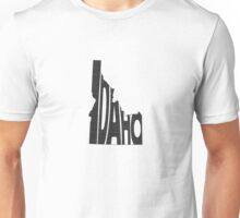 Idaho State Word Art Unisex T-Shirt