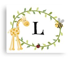 Nursery Letters L Canvas Print