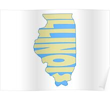 Illinois State Word Art Poster