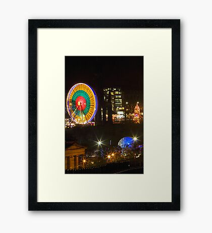 Edinburgh Christmas 2008 (1) Framed Print
