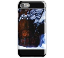 Flowing Colors in a Winter Landscape Poster iPhone Case/Skin