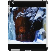 Flowing Colors in a Winter Landscape Poster iPad Case/Skin