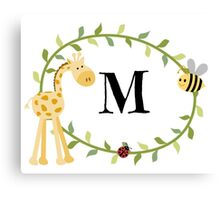 Nursery Letters M Canvas Print