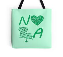 I heart NOLA (Green) Tote Bag