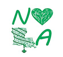 I heart NOLA (Green) Photographic Print