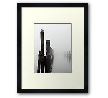 A Foggy Evening on the Wharf Framed Print