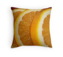 Mouth Watering and Orange Throw Pillow