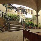 A Majorcan Inner Courtyard by Fara