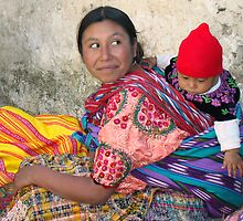 MOTHER AND CHILD - GUATEMALA by Michael Sheridan