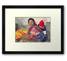 MOTHER AND CHILD - GUATEMALA Framed Print