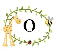 Nursery Letters O Photographic Print