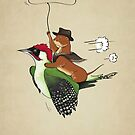 Woody & Weasel by LucyOlver