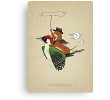 Woody & Weasel Canvas Print