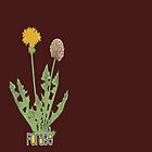 forage! dandelion shirt. by bristlybits
