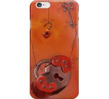 Locked and Unlocked, Hearts and Skeleton Keys iPhone Case/Skin
