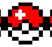 8-bit Pokéball StrobeNetworkRecords Design  Sticker