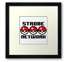 8-bit Pokéball StrobeNetworkRecords Design  Framed Print