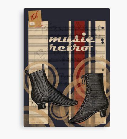 Retro music (graphic) Canvas Print