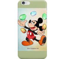 Mickey juggles Easter Eggs iPhone Case/Skin