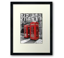 London Red Telephone Box Framed Print