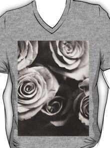 Medium format analog black and white photo of white rose flowers T-Shirt