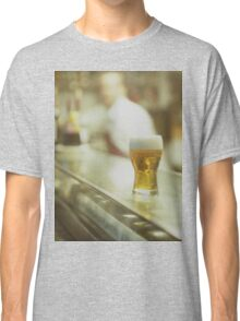 Glass of beer in Spanish tapas bar square Hasselblad medium format  c41 color film analogue photograph Classic T-Shirt