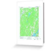 Maine USGS Historical Map Wiscasset 807323 1970 24000 Greeting Card