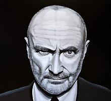 Phil Collins painting by PaulMeijering