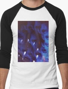 Swirls in Dark - analog 35mm color film photo Men's Baseball ¾ T-Shirt