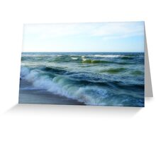 Waves in Shadow Greeting Card