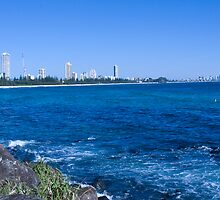 Looking Towards Surfers Paradise from Burleigh Point by Steve Grunberger
