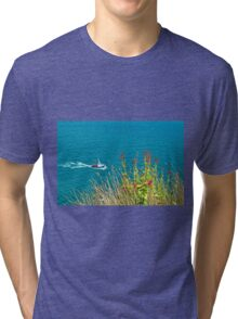 On The Edge, Devon, England Tri-blend T-Shirt