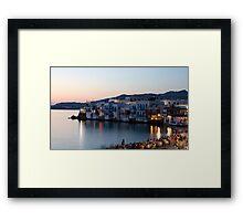 Little Venice, Mykonos Greece Framed Print