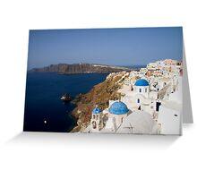 Ía morning Santorini, Greece Greeting Card