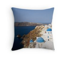 Ía morning Santorini, Greece Throw Pillow