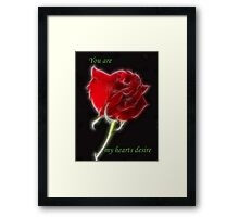 You Are -4 Framed Print