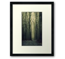 """Do not go where the path may lead"" Framed Print"
