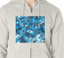 Blue Labyrinth Zipped Hoodie
