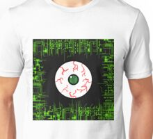 Robotic Matrix Code Eye Unisex T-Shirt