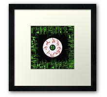 Robotic Matrix Code Eye Framed Print